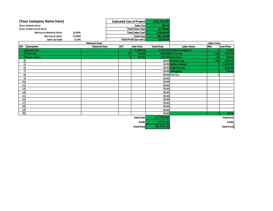 17 Excel Quotation Templates Free Quotation Templates